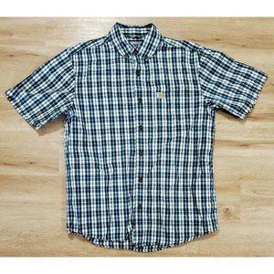 Carhartt Mens Essential Blue White Plaid Shirt M